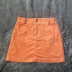 Madewell Corduroy Peach Orange Mini Skirt